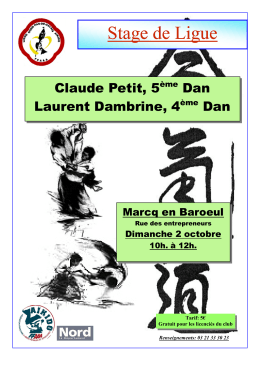 Stage de Ligue - Aikido » Ligue Nord Pas de Calais
