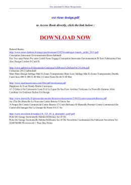 ext rieur design pdf