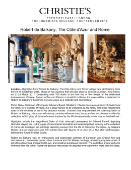 Robert de Balkany: The Côte d`Azur and Rome
