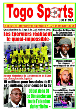 Togo Sports N°124 - République Togolaise