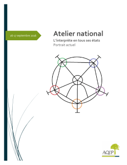 Cahier de l`atelier national 2016