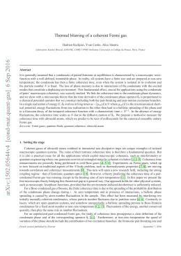 arXiv:1502.05644v4 [cond-mat.quant-gas] 6 Sep 2016