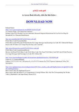 P1622 CODE PDF
