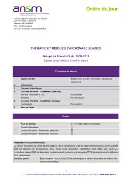 ODJ - GT42016041 - Thérapie et risques cardiovasculaires