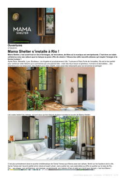 Mama Shelter s`installe à Rio - AccorHotels
