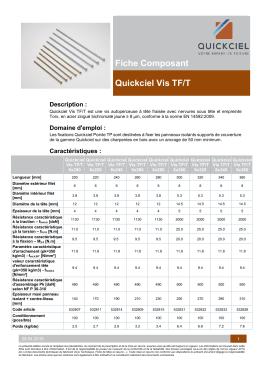 06. Fiche Composant – Quickciel – Vis TF-F