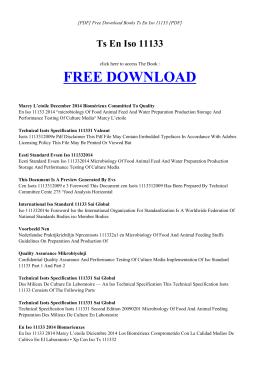 TS EN ISO 11133 | Free Ebook