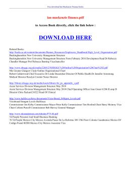 ian mackenzie finance pdf
