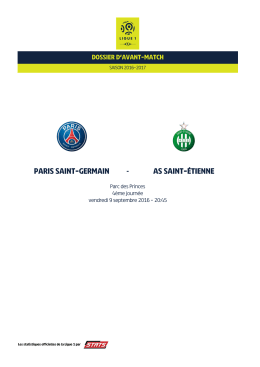 parissaint-germain assaint-étienne