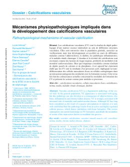 Mécanismes physiopathologiques impliqués dans le