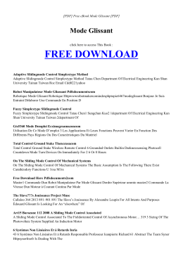 MODE GLISSANT | Free book