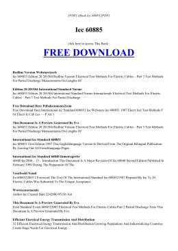 IEC 60885 | Free Ebook