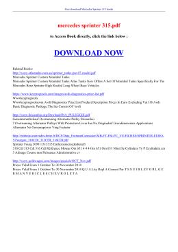 mercedes sprinter 315 pdf