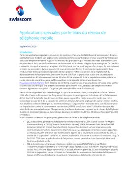 Applications spéciales par le biais du réseau de