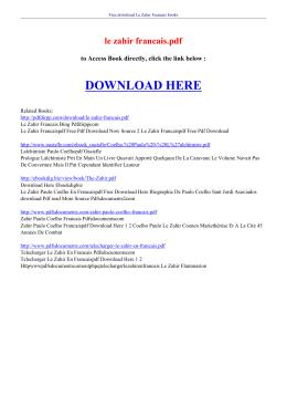 le zahir francais pdf