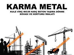 karma metal - kule vinc beton dokme kovasi ve hortumu imalati beton kovasi