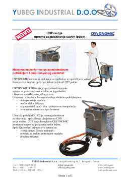 COB serija mašina za peskiranje