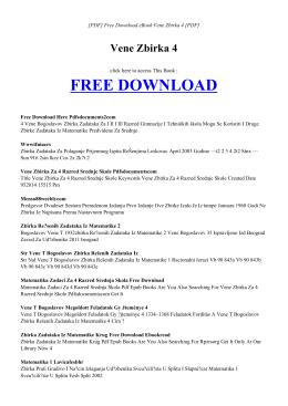 VENE ZBIRKA 4 | Free Book