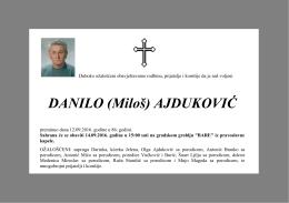 DANILO (Miloš) AJDUKOVIĆ