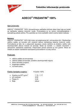 FRIZANTIN 100% Tehnički list