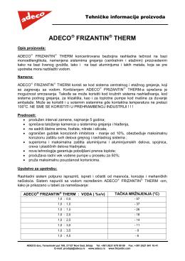 Frizantin Therm Tehnički list