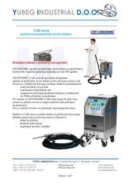 CAB serija mašina za peskiranje