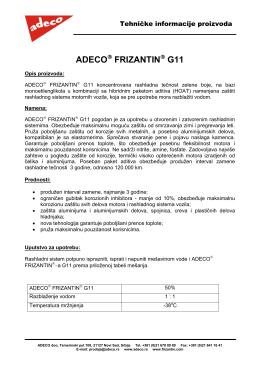 FRIZANTIN G11 100% Tehnički list