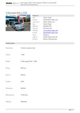 Volkswagen Polo 1.4 BZ