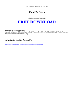KOZI ZA VETA | Free PDF