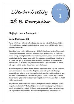 Literární sešity ZŠ B. Dvorského