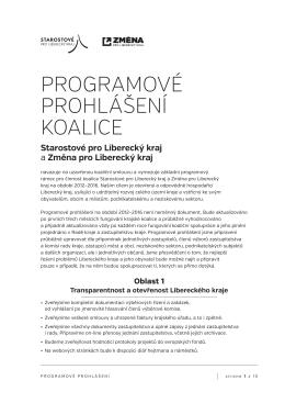 Změna pro Liberecký kraj: Aktuality
