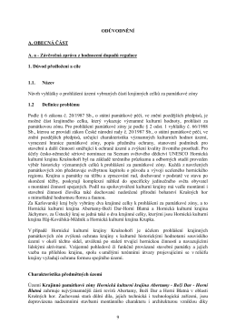Závěrečná zpráva z hodnocení dopadů regulace 1. Důvod