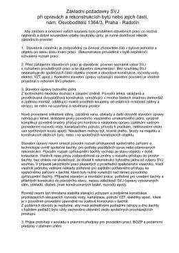 Požadavky na rekonstrukce bytu - Společenství vlastníků jednotek