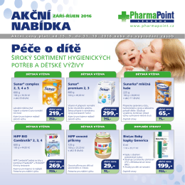 Péče o dítě - PharmaPoint