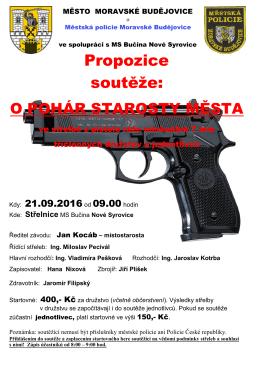 Střelecká soutěž propozice 21-9