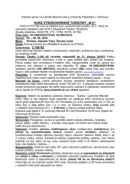 """kurz vysokohorské turistiky """"bc"""" - FTK"""