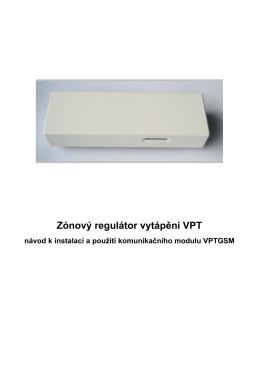 Zónový regulátor vytápění VPT