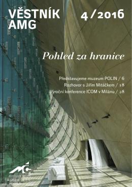 Věstník AMG 4/2016 - Asociace muzeí a galerií v České republice