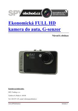 Návod k obsluze - Ekonomická kamera do auta