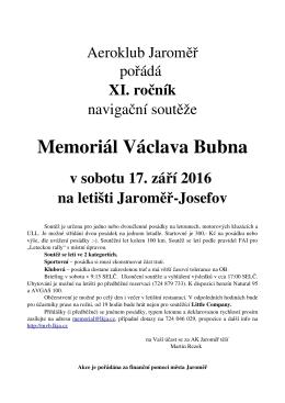 Memoriál Václava Bubna
