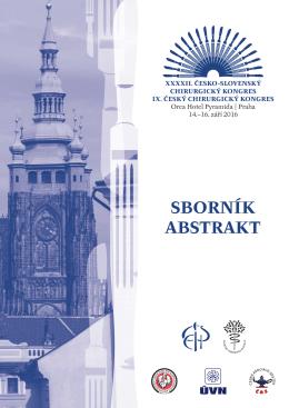 sborník abstrakt - 42. Česko-slovenský chirurgický kongres