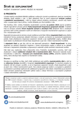 staň se diplomatem - Asociace pro mezinárodní otázky