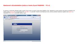 Nastavení uživatelského jména a hesla Zyxel P660HW