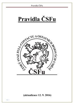 Pravidla ČSFu