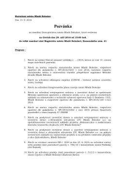 Pozvánka - Mladá Boleslav
