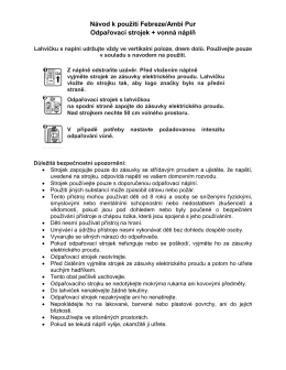 Návod k použití Febreze/Ambi Pur Odpařovací strojek - Info