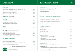 menu - Café Rico