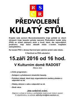 Havířov  - Krajská rada seniorů Moravskoslezského kraje