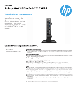 Stolní počítač HP EliteDesk 705 G3 Mini