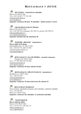 Katalog stravovacích zařízení